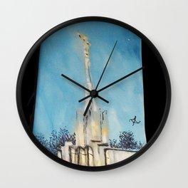 Atlanta GA LDS Temple Tie Wall Clock