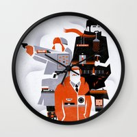 fargo Wall Clocks featuring Fargo TV Series Poster by Take Heed