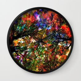 Autumnal Forest Wall Clock