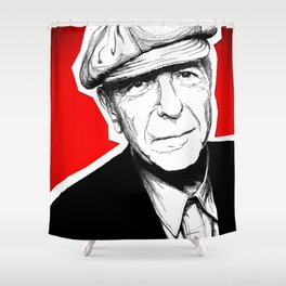 Leonard Cohen Shower Curtain