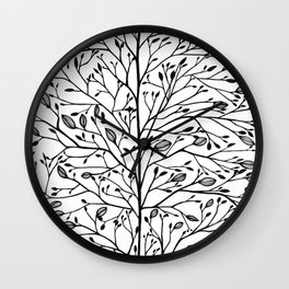 Branches and Buds Wall Clock