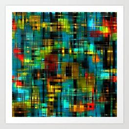 Art splash brush strokes paint abstract seamless pattern print background Art Print