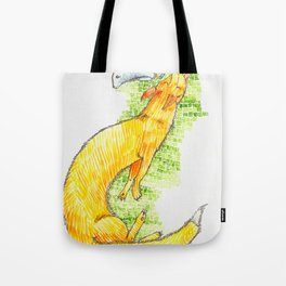 Fox Chasing Rabbit Tote Bag
