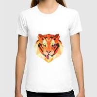 low poly T-shirts featuring Low Poly Tiger by Evan Smith