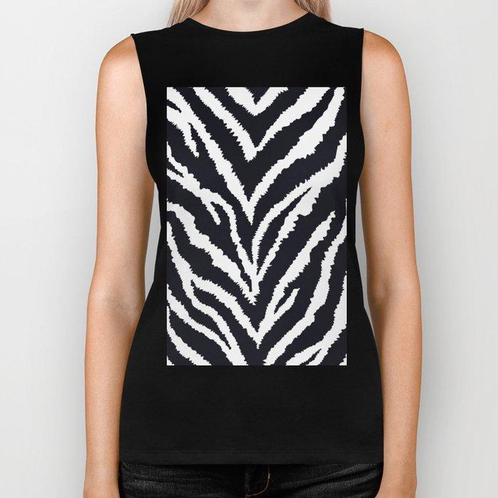 Zebra fur texture Biker Tank