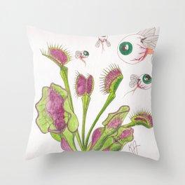 Venus Eye Trap Throw Pillow