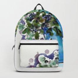 Blue bouquet Backpack