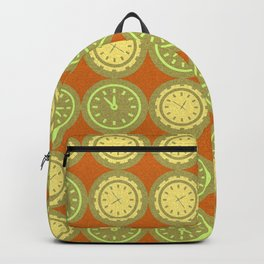 Round clocks pattern Backpack