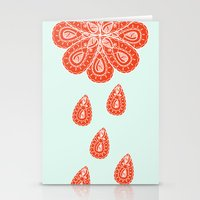 henna Stationery Cards featuring Henna Shower by Neela