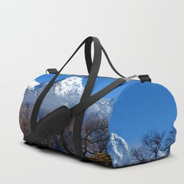 Panoramic View Of Annapurna Ghorepani Poon Hill Duffle Bag