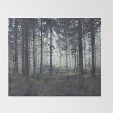 Through The Trees Throw Blanket