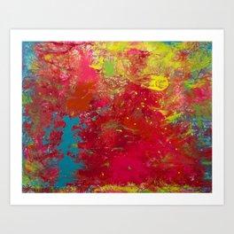 Tie-Dye Veins Art Print