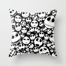 Halloween Jack Skellingtons emoticon face iPhone 4 4s 5 5c 6, pillow case, mugs and tshirt Throw Pillow