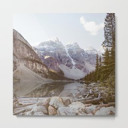 Moraine Lake - Mountain Landscape, Nature Photography Metal Print
