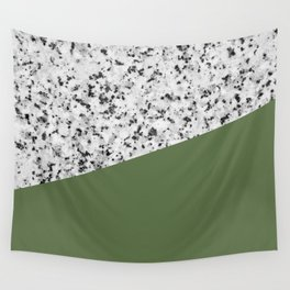 Granite and Kale Color Wall Tapestry