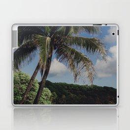 Hawaii Haze - Tropical Beach with Palm Trees Laptop & iPad Skin