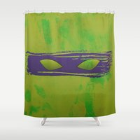 tmnt Shower Curtains featuring TMNT Donnie by Some_Designs