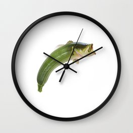Fishy courgette Wall Clock