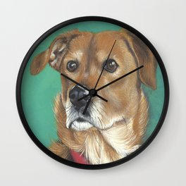 Roxy a sweet mixed breed Wall Clock