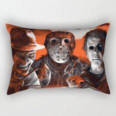 Freddy Krueger Jason Voorhees Michael Myers Super Villians Holiday Rectangular Pillow
