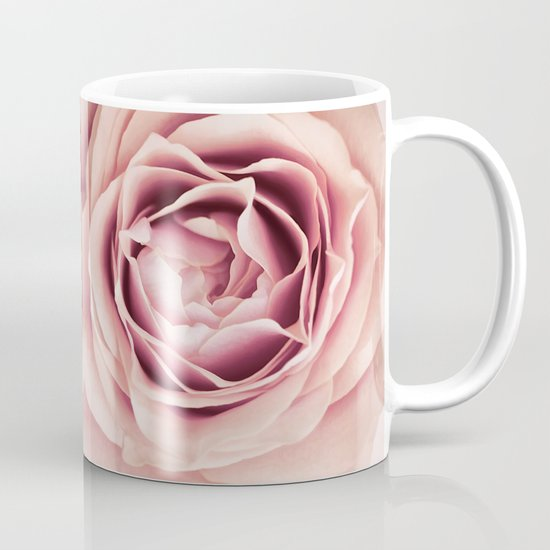 My Heart is Safe with You, My Friend - pale pink rose macro Mug