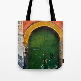 Magic Green Door in Sicily Tote Bag