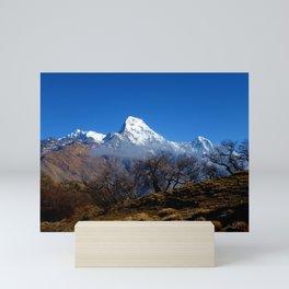 Panoramic View Of Annapurna Ghorepani Poon Hill Mini Art Print