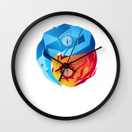 Dragon Yin-Yang Yoga Fantasy gamer Zen Gift Wall Clock