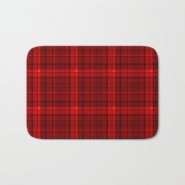 Red plaid Bath Mat