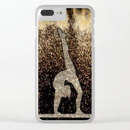 Sparkle Gymnast Clear iPhone Case
