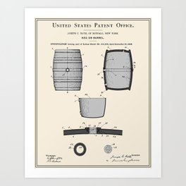 Beer Keg Patent Art Print
