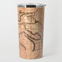 Map Of Caracas 1814 Travel Mug