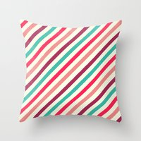 striped Throw Pillows featuring Striped. by Tayler Willcox