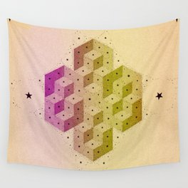 Cubic Totems Wall Tapestry