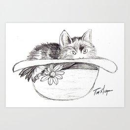 Kitty! Art Print