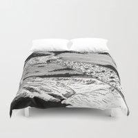 polar bear Duvet Covers featuring Polar Bear by Meredith Mackworth-Praed