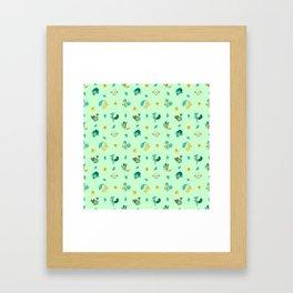 Grass Starters Framed Art Print