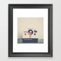 portrait of a polaroid ...  Framed Art Print