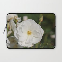 White Flowers and Buds by Reay of Light Photography Laptop Sleeve