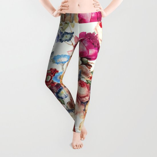 Floral Crush #society6 #decor #buyart Leggings