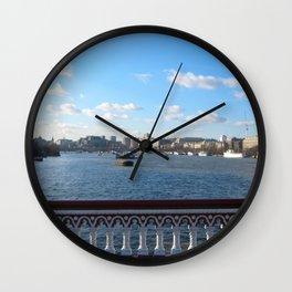 View Of River Thames From Blackfriars Bridge Wall Clock