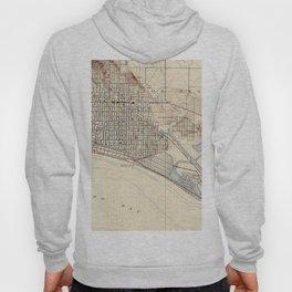 Vintage Map of Long Beach California (1923) Hoody