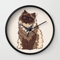 finn Wall Clocks featuring Finn by Faryn Hughes