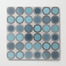 Grey blue circle 6 Metal Print