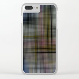 Deconstructed Abstract Scottish Plaid Pattern Clear iPhone Case