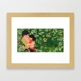 """I Dream of Popo - """"I tell Popo about my adventures"""" Framed Art Print"""