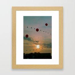 Balloons in the Sky 3 Framed Art Print