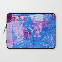 Danube: a pretty vibrant abstract piece in pinks and blues by Alyssa Hamilton Art Laptop Sleeve