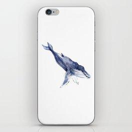 Humpback Whale, swimming whale decor iPhone Skin