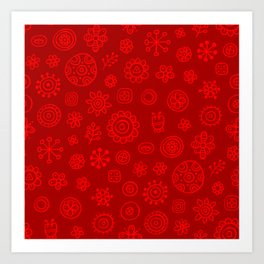 Red on Red Print Art Print
